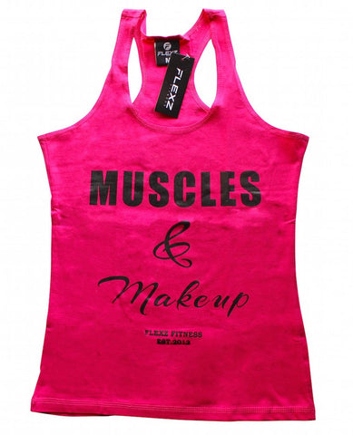 Muscles and Make Up Womens Tank Top - Flexz Fitness - 1
