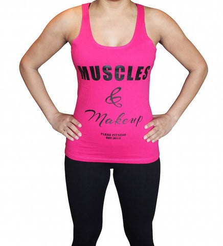 Muscles and Make Up Womens Tank Top - Flexz Fitness - 2
