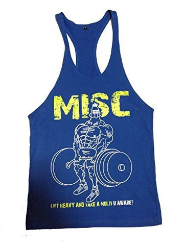 R U Aware? Misc Bertstare Singlet - Blue - Flexz Fitness