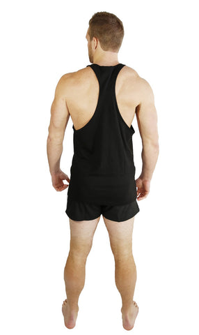 Cocaine & Protein Singlet Racerback - Black/Gold - Flexz Fitness - 3