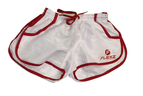 Gym Shorts ZYZZ Bodybuilding 2euros - White - Flexz Fitness