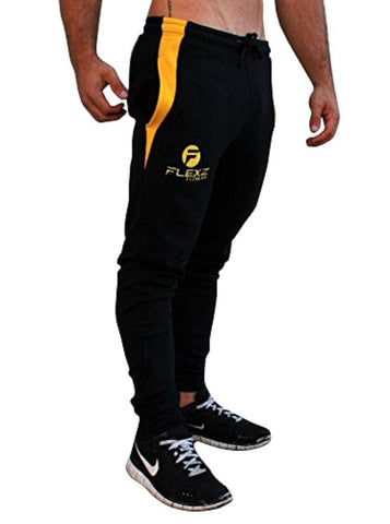 Gym Shark Fitted Sweatpants Bodybuilding - Black - Flexz Fitness - 1