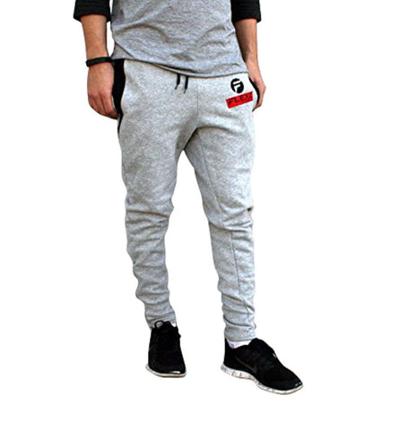 Gym Shark Fitted Sweatpants Bodybuilding - Gray - Flexz Fitness - 1