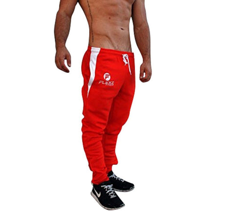 Gym Shark Fitted Sweatpants Bodybuilding - Red - Flexz Fitness - 1