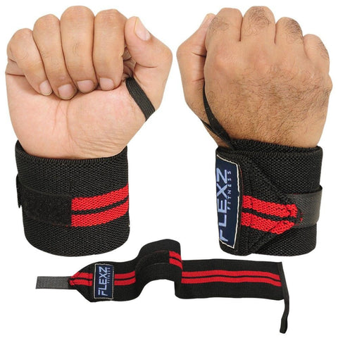 Power Weight Lifting Wrist Wraps - Flexz Fitness - 1