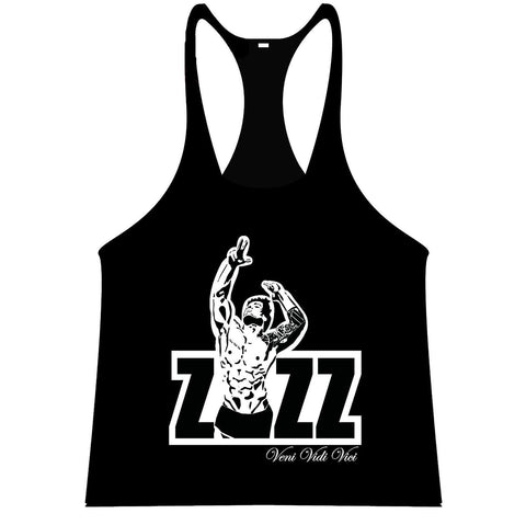 ZYZZ Official Singlet - Black/White - Flexz Fitness - 1