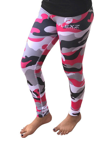 Women's Pink Leggings Camo Zebra Print Pant For Yoga, Working Out And Sports - Flexz Fitness - 7