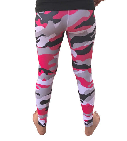 Women's Pink Leggings Camo Zebra Print Pant For Yoga, Working Out And Sports - Flexz Fitness - 8
