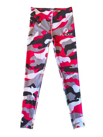 Women's Pink Leggings Camo Zebra Print Pant For Yoga, Working Out And Sports - Flexz Fitness - 9