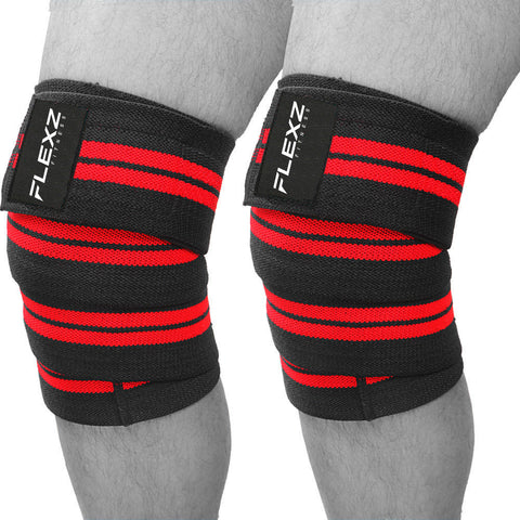 Power Lifter Knee Wraps - Flexz Fitness - 1