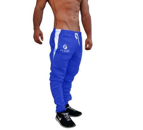 Gym Shark Fitted Sweatpants Bodybuilding - Blue - Flexz Fitness