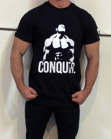 Conquer T-Shirt - Black - Flexz Fitness - 2