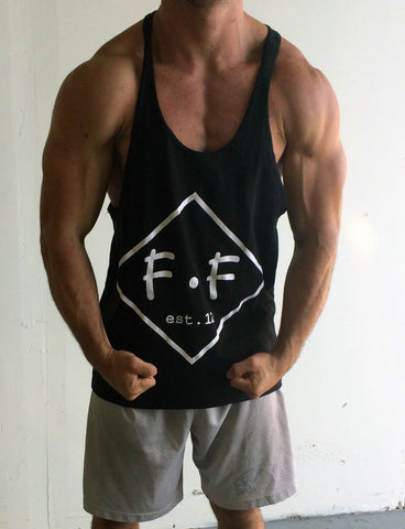 Diamond Singlet Racerback- Black - Flexz Fitness - 2