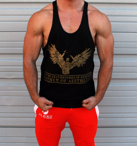 ZYZZ Official Singlet - Black/Gold - Flexz Fitness - 2