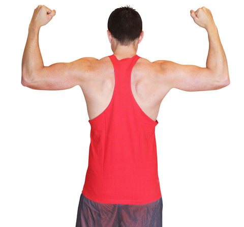 Cocaine & Protein Singlet Racerback - Red/White - Flexz Fitness - 3