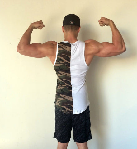CAMO Tank Top - White/Camo - Flexz Fitness - 3