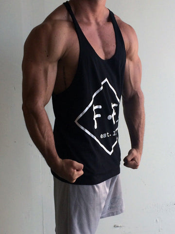 Diamond Singlet Racerback- Black - Flexz Fitness - 3