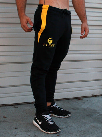 Gym Shark Fitted Sweatpants Bodybuilding - Black - Flexz Fitness - 2