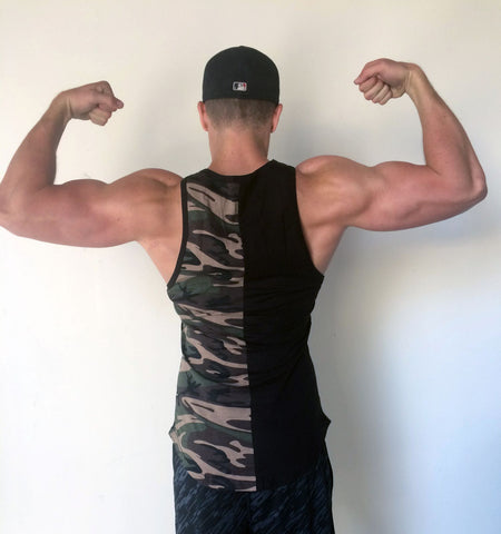 Camo Tank Top - Black/Camo - Flexz Fitness - 3