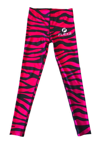 Women's Pink Leggings Camo Zebra Print Pant For Yoga, Working Out And Sports - Flexz Fitness - 4