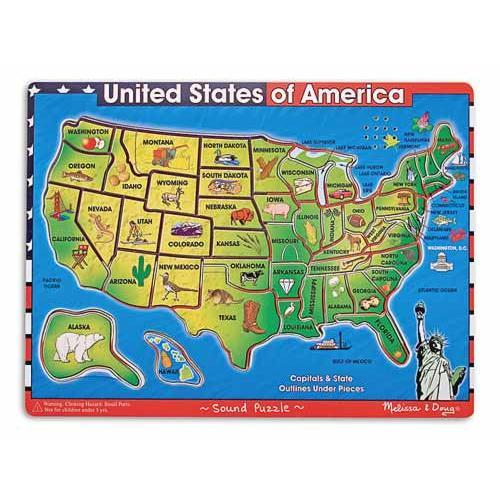 USA Maps Sound Puzzle