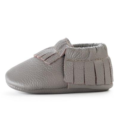 BirdRock Baby - Slate Genuine Leather Baby Moccasins