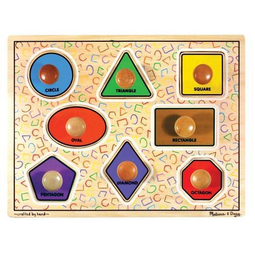 Large Jumbo Knob Puzzle - Shapes
