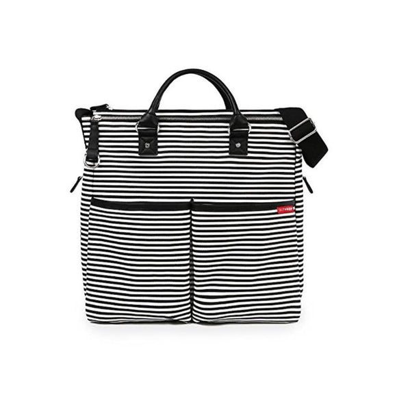 Duo Special Edition Diaper Bag - Black & White Stripe