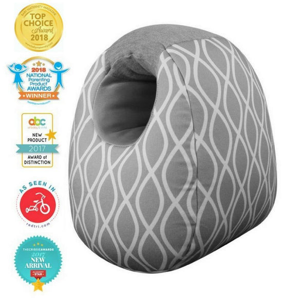 Milk Boss Infant Feeding Support Pillow-Platinum Helix