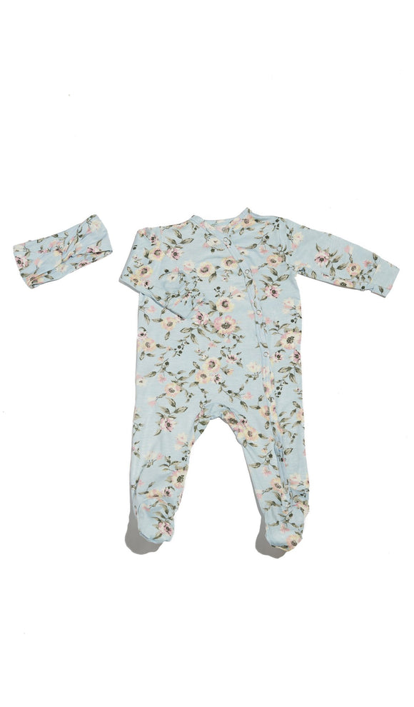 Footie 2 Piece  - Cloud Blue