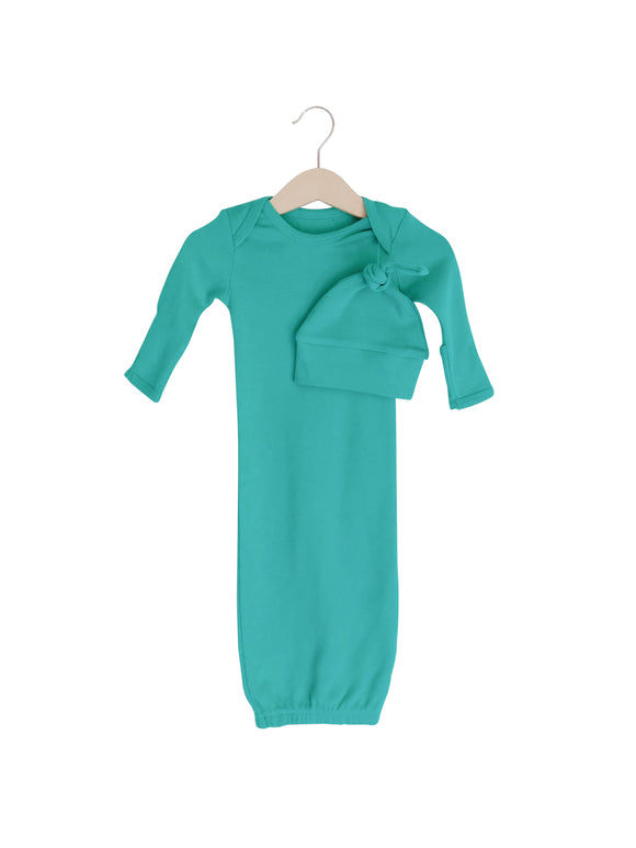 Solid Color Organic Gown Set + Knot Hat | Arcadia