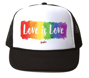 Bubu - Love Is Love White/Black Trucker Hat