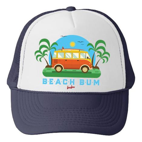 Bubu - Beach Bum White/Navy Trucker Hat