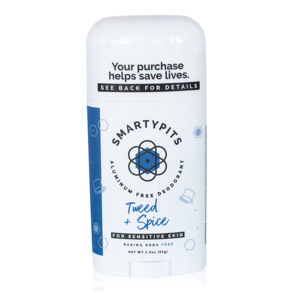 SmartyPits - Tweed + Spice | Sensitive Skin Formula | Baking Soda Free