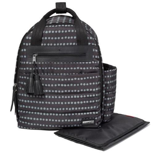 Riverside Ultra Light Diaper Backpack, Black Dot