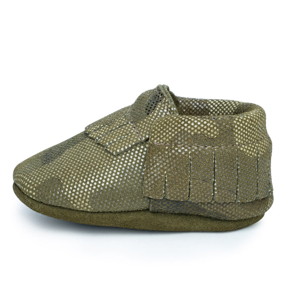 BirdRock Baby - Camo Genuine Leather Baby Moccasins