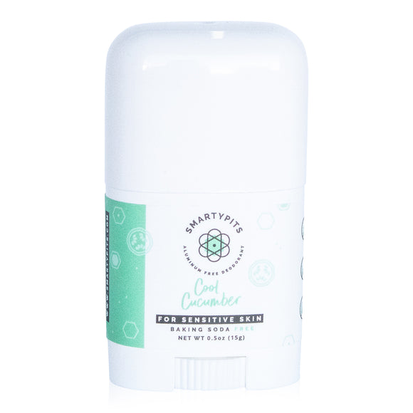 SmartyPits - Mini | Cool Cucumber | Sensitive Formula | Baking Soda Free
