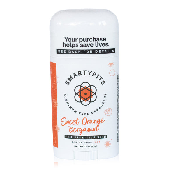 SmartyPits - Sweet Orange Bergamot | Sensitive Formula | Baking Soda Free
