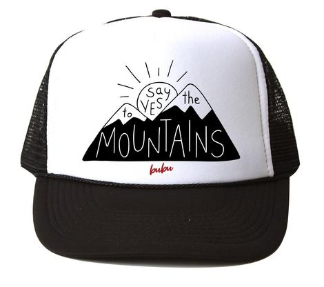 Bubu - Say Yes To The Mountains White/Black Trucker Hat