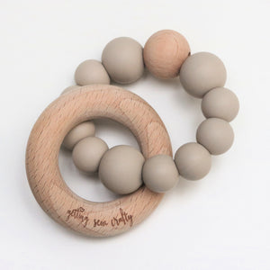 Getting Sew Crafty - Teether - Silicone + Wood |Taupe|
