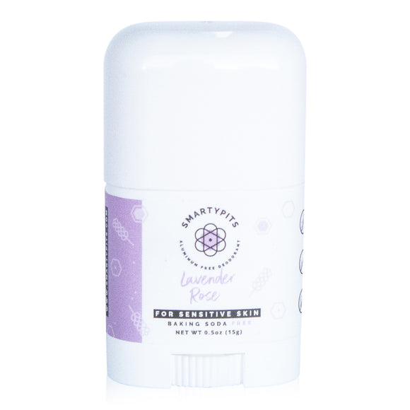 SmartyPits - Mini | Lavender Rose | Sensitive Formula | Baking Soda Free