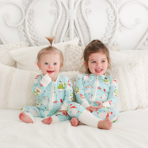 Little Sleepies - Snowman convertible romper/sleeper