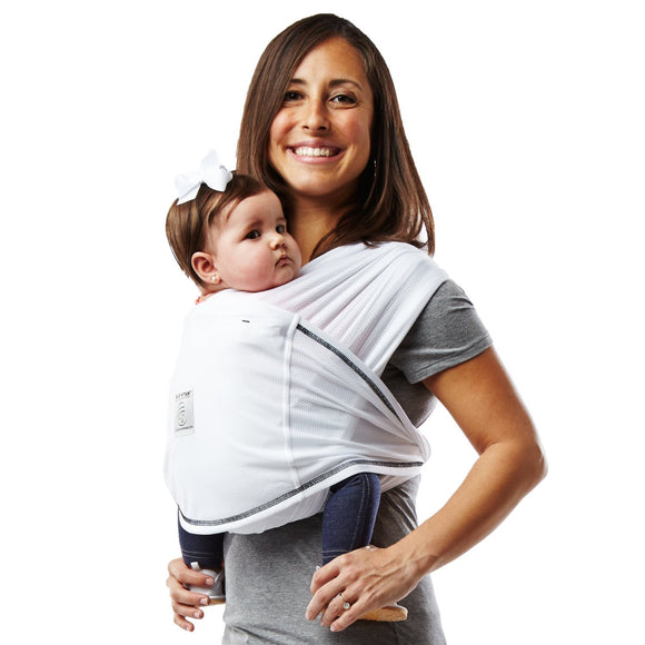 Active Baby Carrier- White/Black Stitch