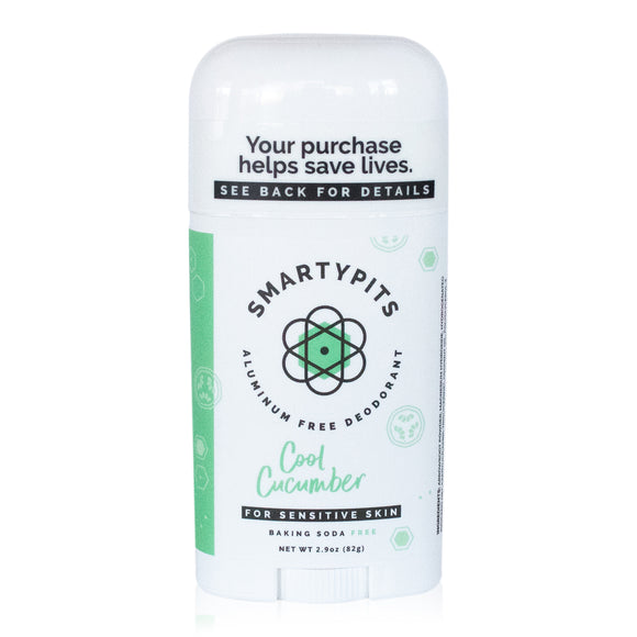 SmartyPits - Cool Cucumber | Sensitive Skin Formula | Baking Soda Free