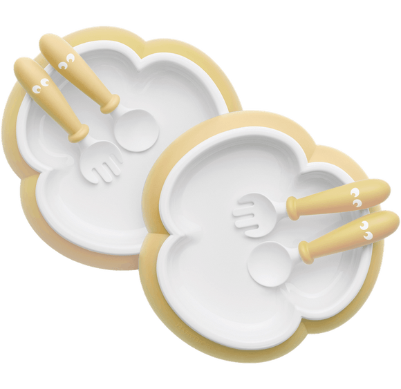 Baby Plate, Spoon and Fork, 2 Sets