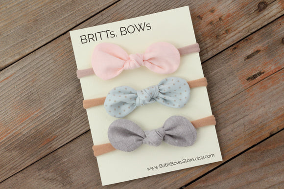 BRITTs. BOWs - Mint Dot Set of 3