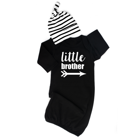 Gigi and Max - Little Brother Gown and Hat