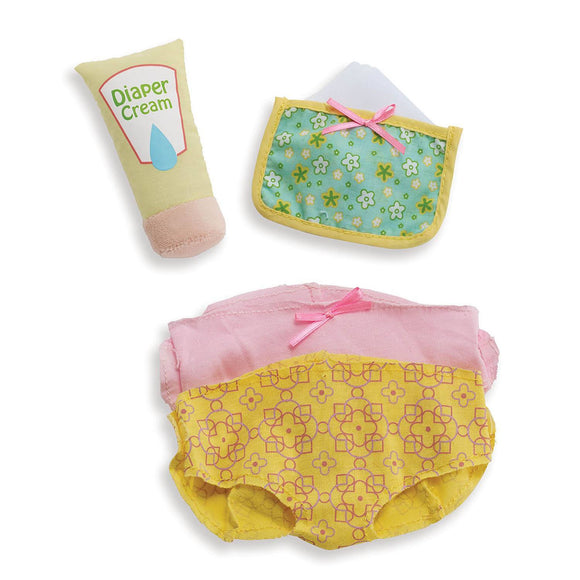 Soft Doll Wee Baby Stella Diaper Changing Set