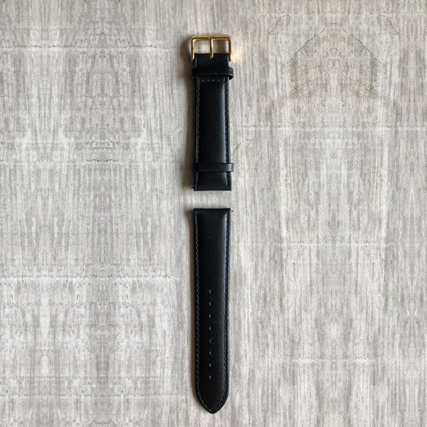 Gold- 22mm Italian Leather Strap