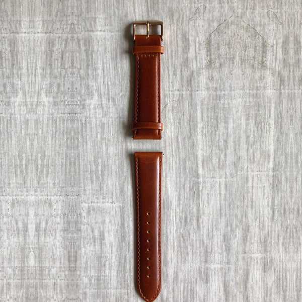 Bronze - 22mm Italian Leather Strap
